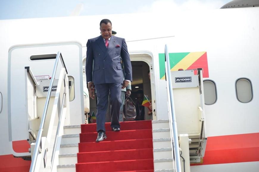 Retour de Denis Sassou N'Guesso du Caire.