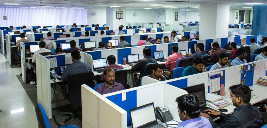 Focus Softnet's expanded support center in Hyderabad