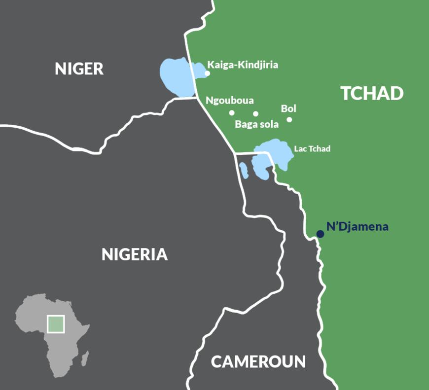 Zones d'action de Boko Haram au Tchad. ©DR