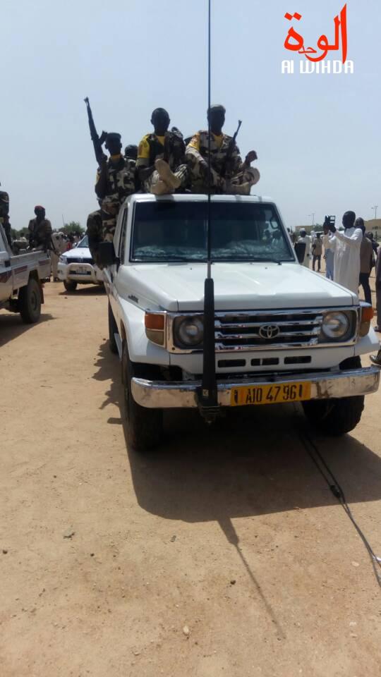 Des véhicules militaires à Abéché. © Alwihda Info