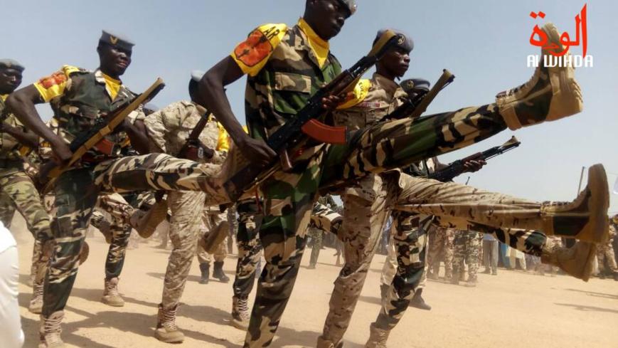 Des militaires lors d'une parade à Abéché. Illustration. © Alwihda Info