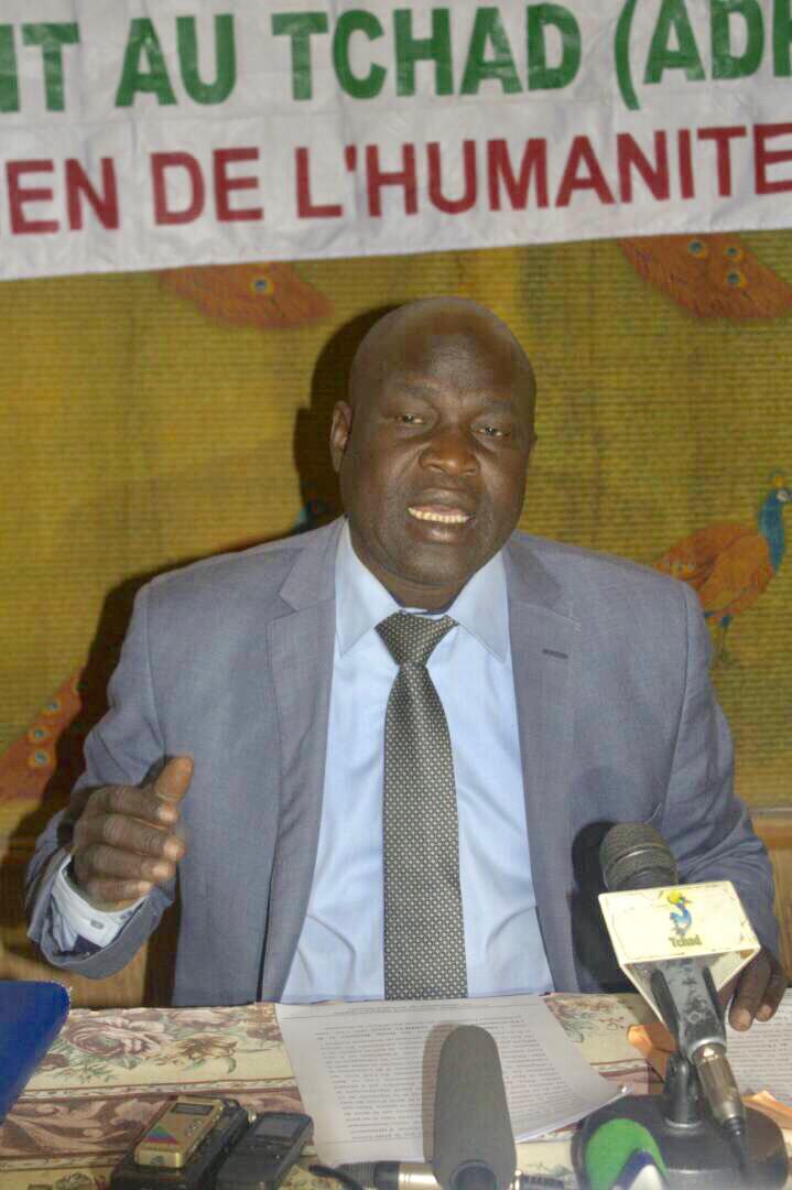 Le secrétaire général de l'Alliance des Défenseurs des Droits Humains et de l'Environnement au Tchad (ADHET), Abba Daoud Nandjede. © Alwihda Info