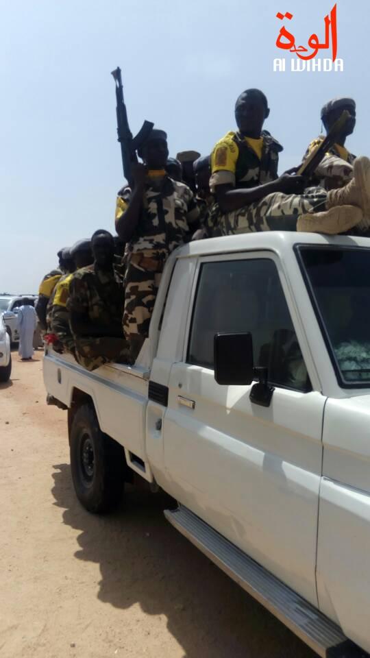Un pick-up de l'armée à Abéché, au Ouaddaï. © Alwihda Info
