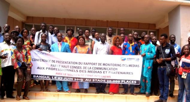 Un monitoring sur mesure des médias centrafricains fait par le HCC en avril 2019. © DR