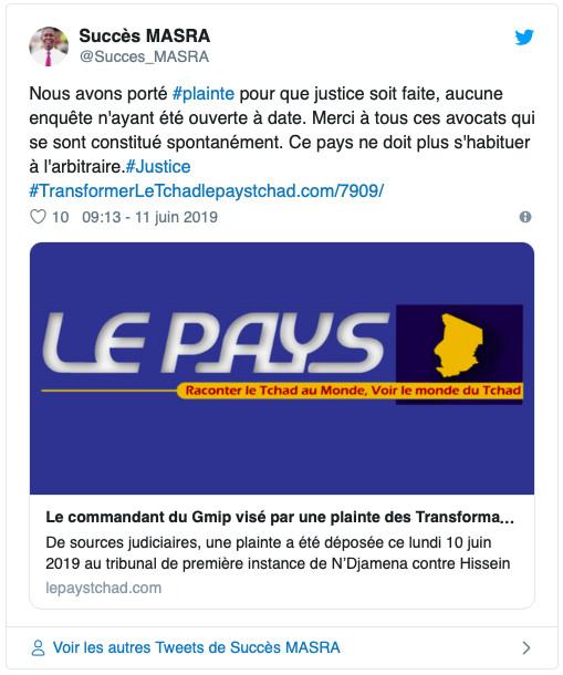 """Tchad : """"ce pays ne doit plus s'habituer à l'arbitraire"""", Succès Masra"""