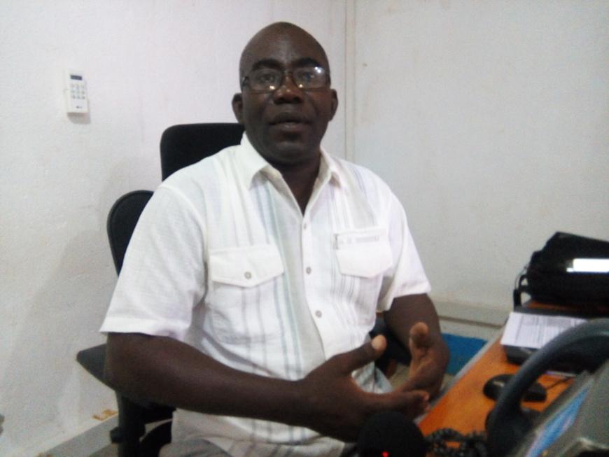 Le chef de bureau de l'UNHCR d'Obo, Roger-Pierre Panzé. ©A-J.M