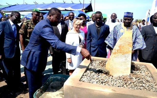 Togo : A Elavagnon, le chef de l'Etat a inauguré le tout premier IFAD dédié à l'aquaculture. © DR