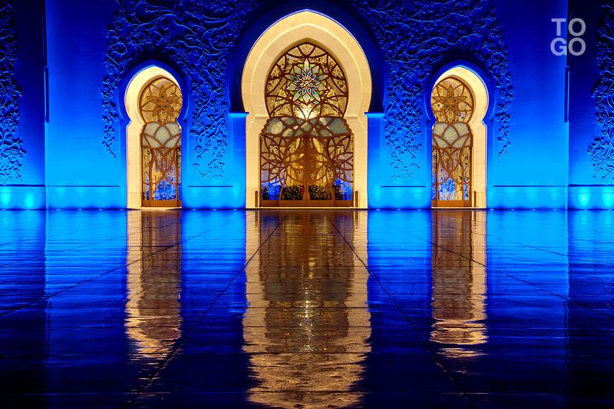 La grande mosquée d'Abou-Dhabi. ©DR