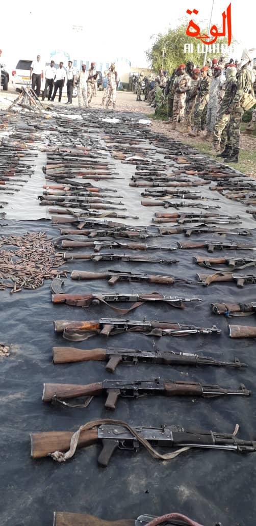 En images : importante saisie d'armes de guerre à l'Est du Tchad. © Alwihda Info