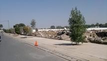Les camps de la GNNT et de la Gendarmerie démolis. Crédits photos : Alwihda