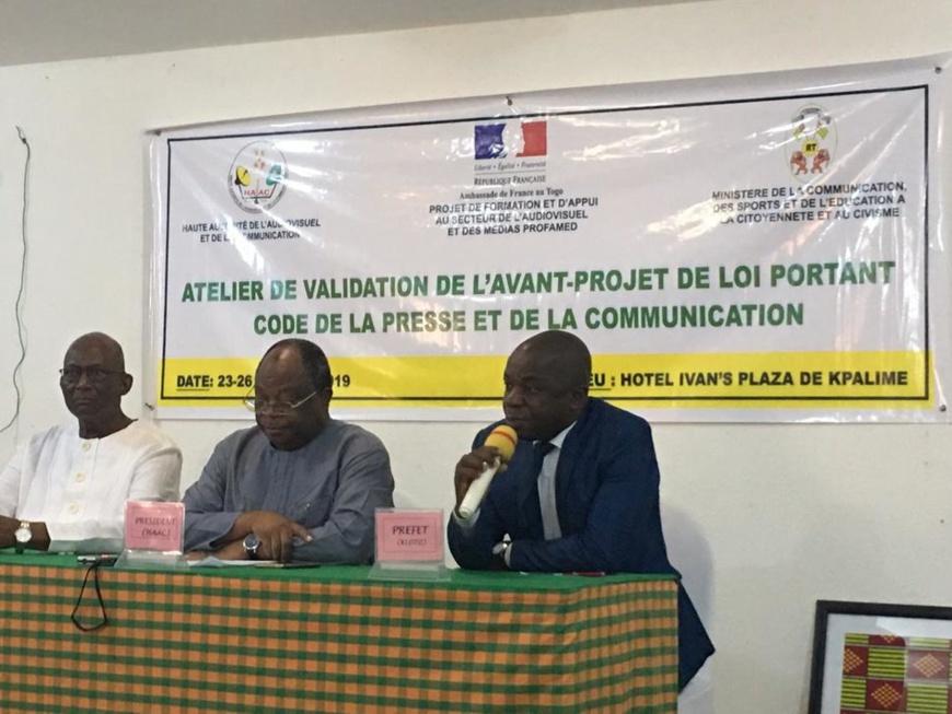 Atelier de validation de l'avant-projet de loi portant code de la presse et de la communication du 23 au 26 juillet 2019 au Togo. © Amb.FR/TOGO