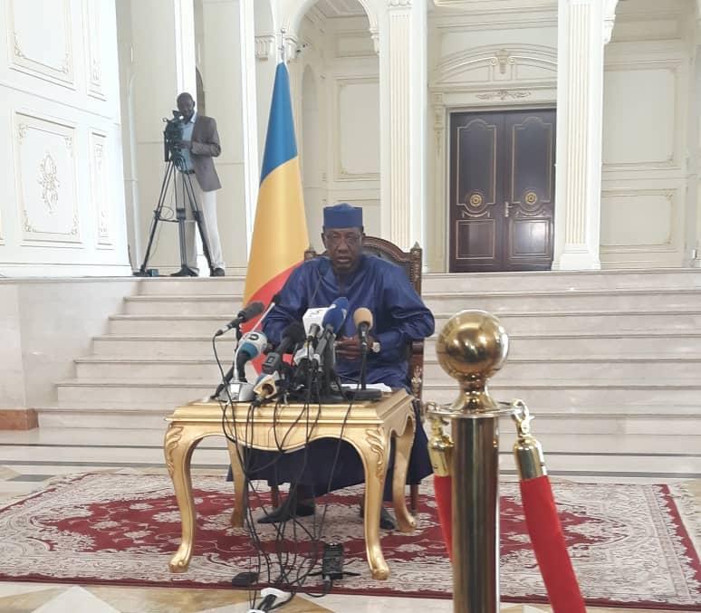 Le président de la République Idriss Déby le 9 août 2019 au Palais présidentiel. © Alwihda Info