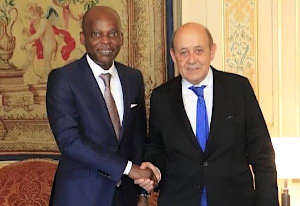 Les ministres des Affaires étrangères, Robert Dussey du Togo et Jean-Yves Le Drian de France. ©DR
