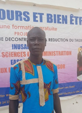 Le président des étudiants de l'Institut universitaire des sciences et d'administration (INUSAD), Youssouf Soumaye Yacoub. © Alwihda Info