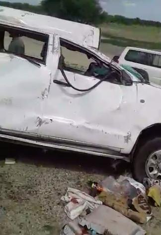 Tchad : un mort dans la délégation terrestre du Sultan du Ouaddaï après un accident routier. © Capture d'écran vidéo Alwihda