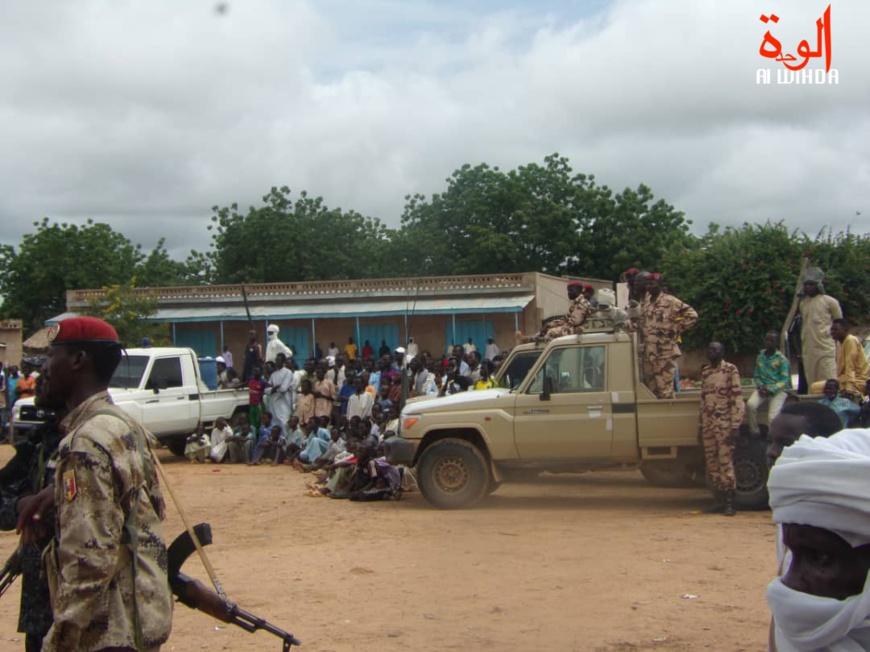 Des militaires à Goz Beida, chef-lieu de la province de Sila. Illustration. © Alwihda Info