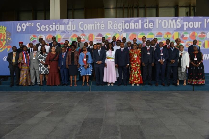 Sassou N'Guesso et les participants à la session de Brazzaville.