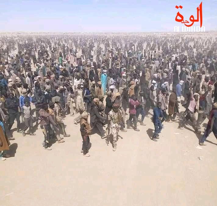 Des orpailleurs à l'extrême nord du Tchad. © Alwihda Info