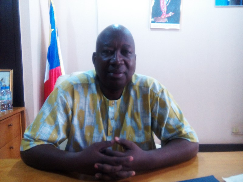 Le président par intérim de la Fédération centrafricaine de football, Célestin YANINDJI.