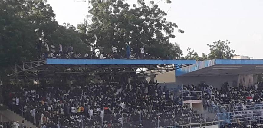 Tchad : stade bondé à N'Djamena, les supporters grimpent aux arbres ou sur les toits