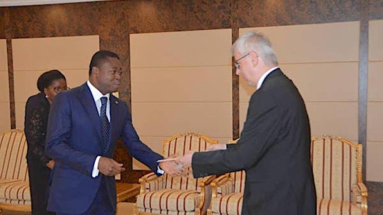 Togo : les Ambassadeurs d'Allemagne et du Ghana ont pris fonction. © RT