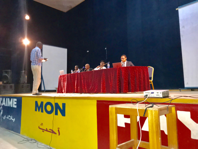 Conférence-débat du CEDPE au centre Al-Mouna, le 21 septembre 2019. N'Djamena, Tchad. ©Alwihda Info