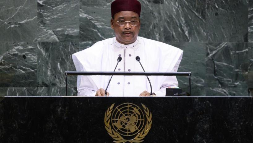 Le président Issoufou à la tribune de l'ONU. © DR