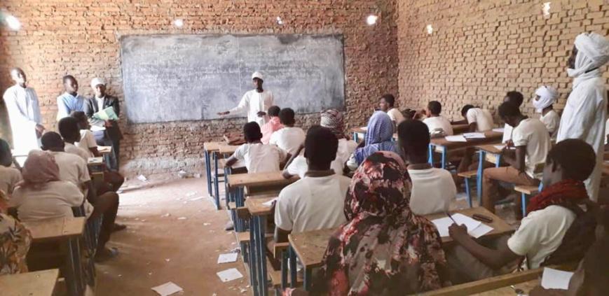 Illustration. Des élèves dans une salle de classe au Tchad. © Alwihda Info