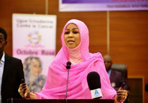 Hinda Déby conseille aux tchadiens de faire du sport. © Pr