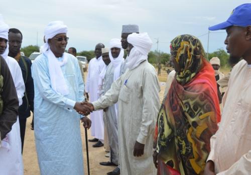 Tchad : le président est arrivé à Biltine par la route