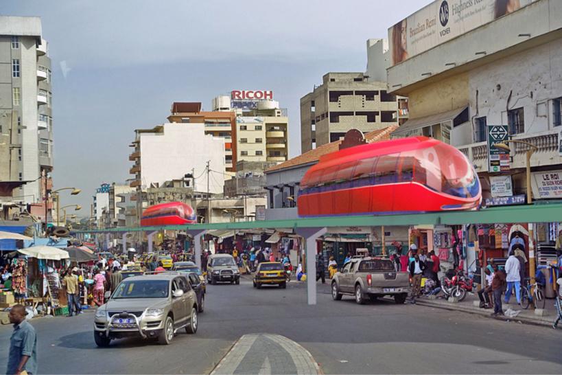 OrbiTram, un système de transport de masse vert pour l'Afrique. © DR