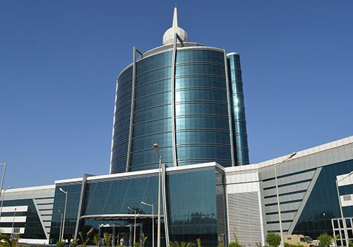Le nouveau siège de la Télévision nationale à N'Djamena. Crédits : DR