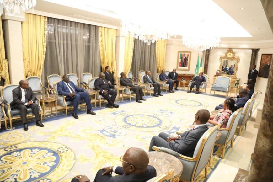 Sassou N'Guesso et les ministres de la CIRGL.