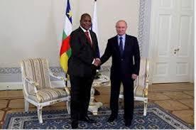 Les présidents centrafricain et russe. Crédits : DR