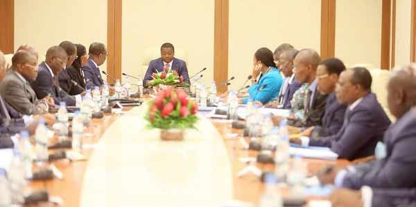 Un conseil des ministres au Togo. © DR