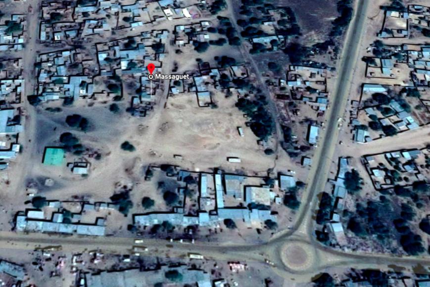 Vue satellite de la ville de Massaguet au Tchad. Illustration. © DR/Google Maps