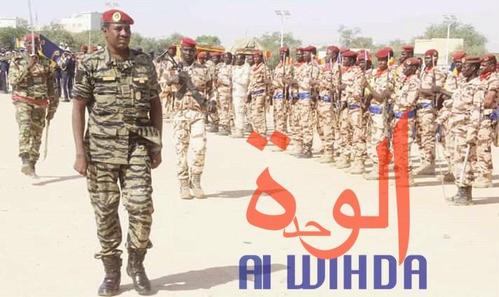 Des militaires tchadiens lors de l'installation du nouveau préfet du département de Ouara, le 12 novembre 2019. © Alwihda Info