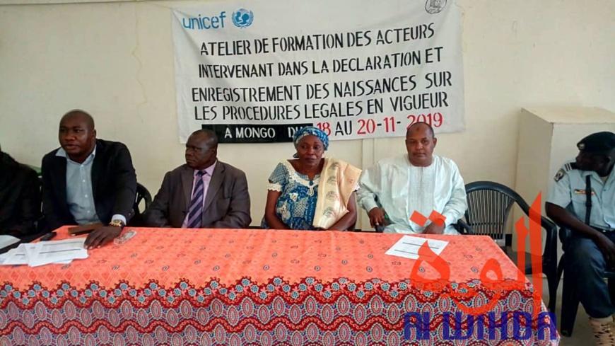 Tchad : à Mongo, une formation sur la déclaration et l'enregistrement des naissances. ©Alwihda Info