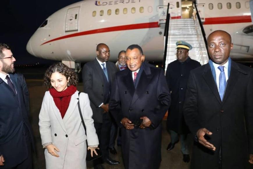 Arrivée De Sassou N'Guesso en Espagne.