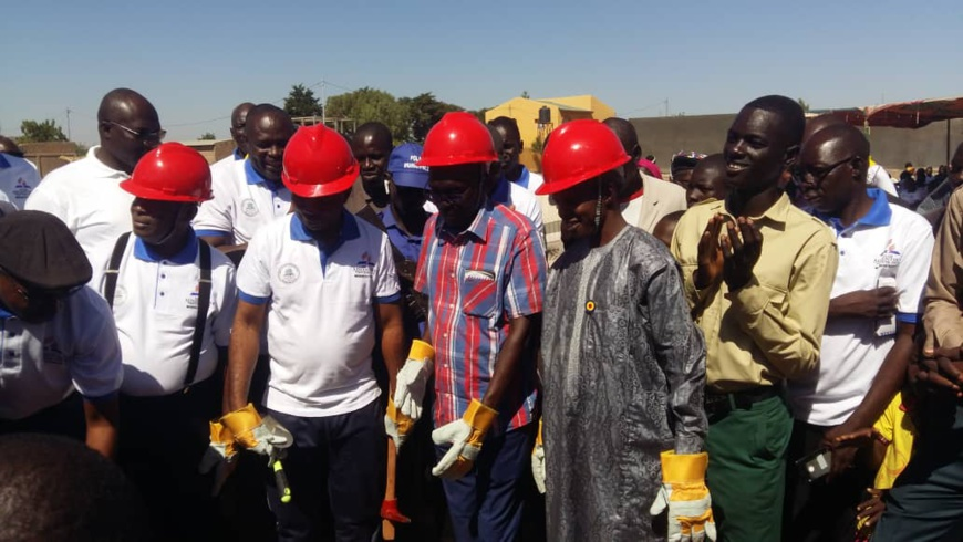 Tchad : pose de la pierre de construction d'une école au 9ème arrondissement de N'Djamena