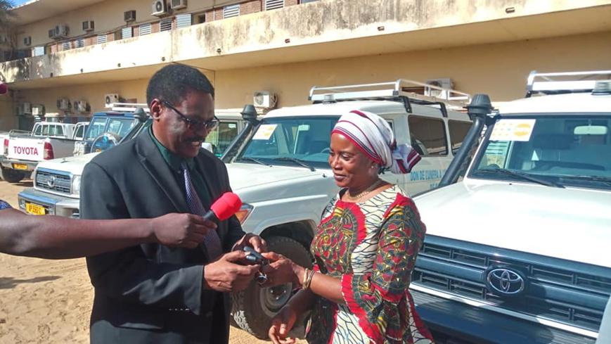 Tchad : deux ambulances offertes au ministère de la Santé publique. © MSP