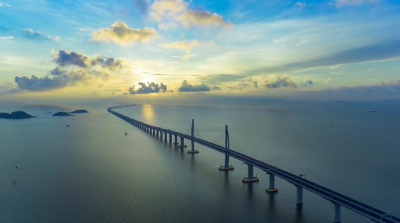 The photo shows the Hong Kong-Zhuhai-Macao Bridge (Offered by Hong Kong-Zhuhai-Macao Bridge Authority)