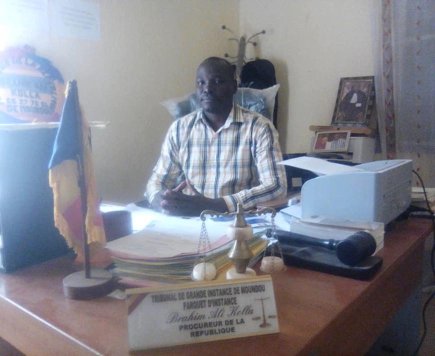 Le procureur de la République près le tribunal de grande instance de Moundou, Brahim Ali Kolla. © Alwihda Info