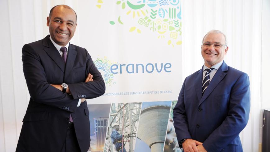 Vincent Le Guennou, président du conseil d'administration d'Eranove (à gauche) et Marc Alberola, directeur-général d'Eranove (à droite)