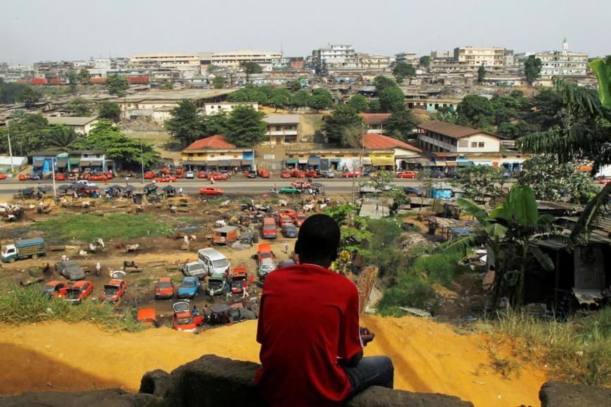 Le quartier de Attiekoube, à Abidjan, le 23 février. Photo Luc Gnago. Reuters