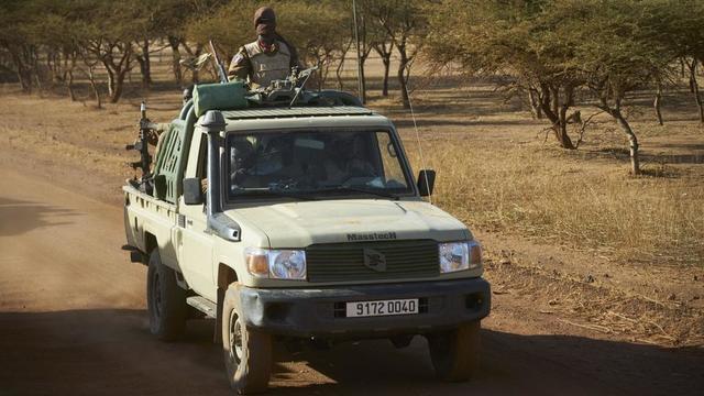 Un véhicule militaire au Burkina Faso. © MICHELE CATTANI / AFP