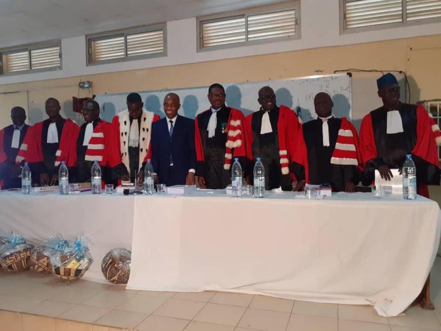 Cérémonie de soutenance de thèse à l'Ucad (Dakar). © Le Témoin