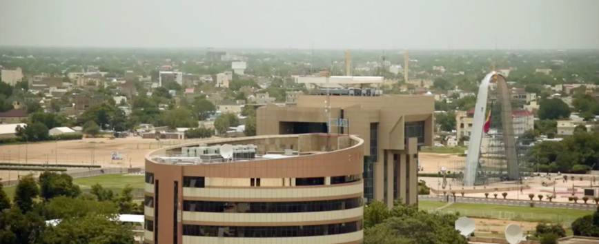 La ville de N'Djamena. Illustration. © DR
