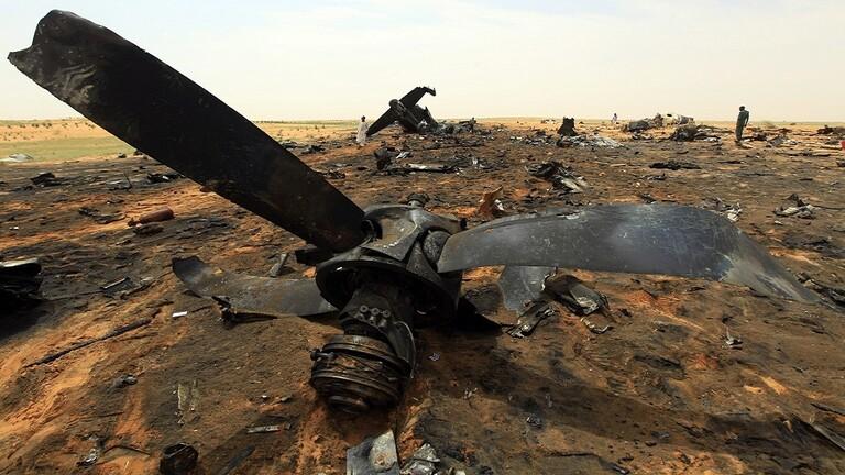 """نجاة وزير العدل من حادث سقوط طائرة """"إنتنوف"""" بالجنينة. © DR"""