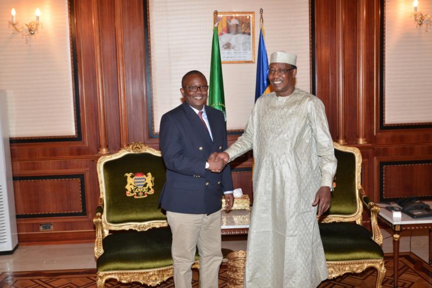Le nouveau président de Guinée Bissau rencontre Idriss Déby à N'Djamena. © Pr